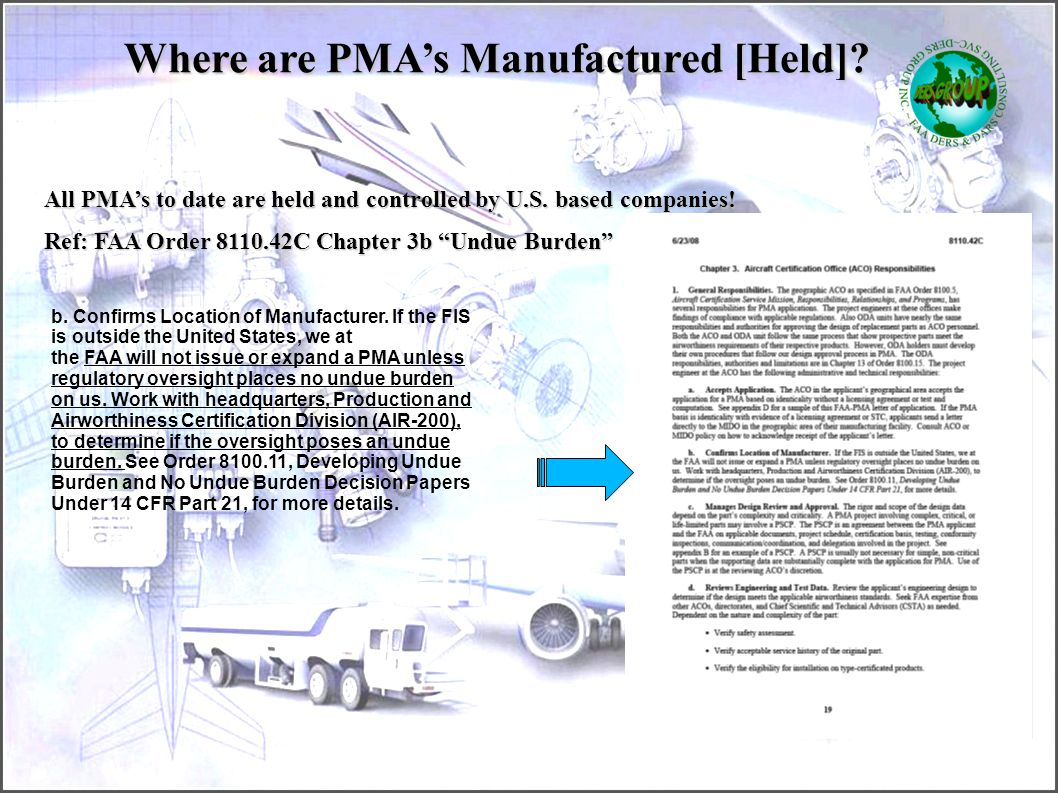 Where are PMA's Manufactured [Held]